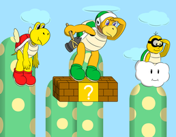 Koopas on the lookout by faren916