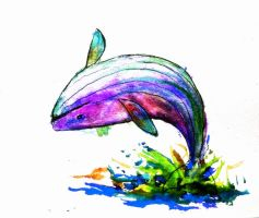 Colourful whale by elicenia