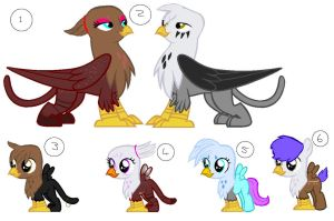 Mlp griffin and hippogriff adopts by MLP-Moonlit-Rose