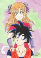 Yumaii and Gohan Teen by Myttens