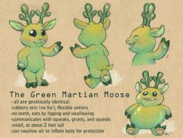 A Guide to Green Martian Moose by GrowlyLobita