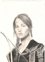 Katniss - the hunger games by ilovetangled