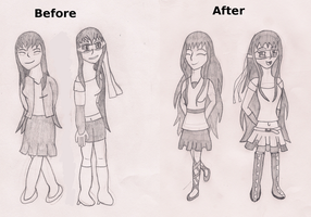Drawn Again: Tracy's Outfits by TheGameCraze