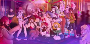 Mean Kids Party by CollaredKid06
