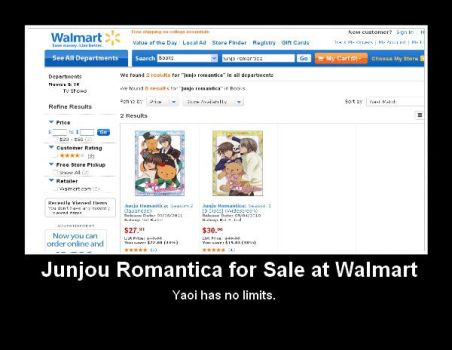 Junjou Romantica for Sale at Walmart by Yuko-Okite
