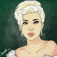 Lady Gaga cartoonized #3 (Blonde) by hiding-paparazzi