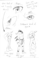 .:Sketch:. What do I draw + Eye training? by SilverfanNumberONE
