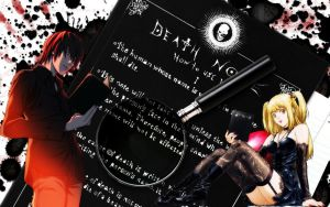 Death Note Light Yagami and Misa Amane by ryu17v