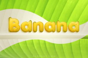Banana style text effect. by AlexandraF