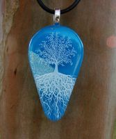 Blue Sky Fused Glass by FusedElegance