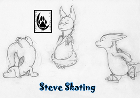 Steve Skating by Mariie-Luna