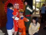 Naruto and his Friends posing by Moth-Fox