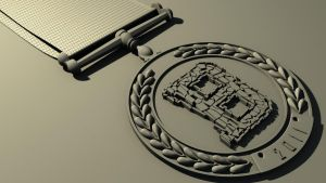 a concept of a medal by rocneasta