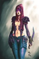 Raven Knoch - The Demon Hunter by azraeltodd