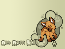 Om Nom Tail Wallpaper by ClemiKinkajou