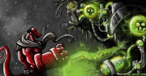 Hellboy vs APEmachine :D by Bane-the-Jester