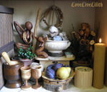 Home altar by LoveLiveLilith