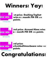 Giveaway Winners! Yay! by MzMegs