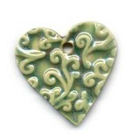 Ceramic Heart Pendant by ChinookDesigns