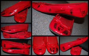 My Red Gaga Shoes by Serahe