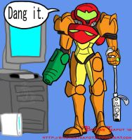 Samus Aran's Wii troubles by BrokenTeapot