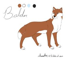 Balder Ref Sheet by BlueMaroon