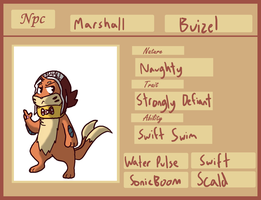 Personal NPC - Marshall the Buizel by Kame-Ghost