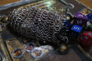 Chainmaille Dice Bag by medievalfaery