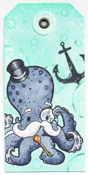 ATC: Sir Octopus Tag by kendravixie