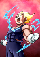 Vegeta's Final Cry: color comm by carapau