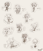 Mini Cheebs Anime Kennel Leaders by OtakuPup
