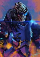 Garrus Speedpaint by Remainaery