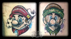 Mario's by state-of-art-tattoo