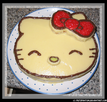 Hello Kitty Cake by FritzFantom