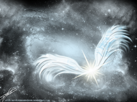 Angelic Star of The Universe by lovelydreamweaver