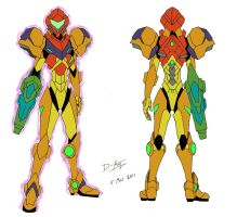Samus Aran Gravity Suit by D-Arm