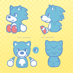 Chibi Sonic Plushie Reference by spoonyliger