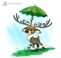 Daily Paint #1199. Raindeer by Cryptid-Creations