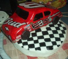 Dale Earnhardt Jr. Cake by estranged-illusions