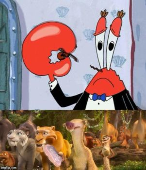 Mr. Krabs is Sad for Sid by Daisies-Sunshine