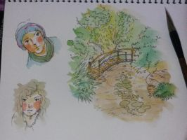 Watercolor Sketch by AirtonCS