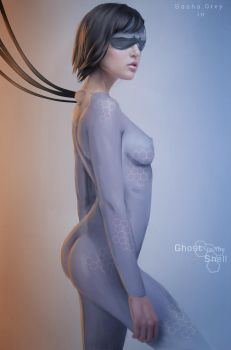 Ghost in the Shell - poster by Dinoforce