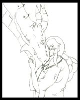 Azra and Odahviing: Dragonborn Legacy Preview WIP by animedugan
