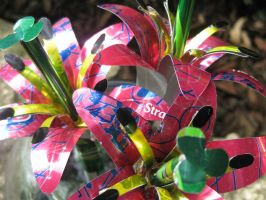 Recycled Sm Pink Lily Trio3 by Christine-Eige