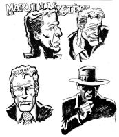 Martin Mystere ink sketches by xAndyLG