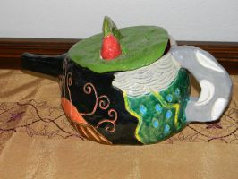 Decorative Nature Inspired Teapot by hiddenhearts3