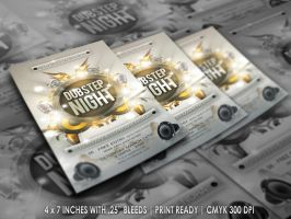 Dubstep Night Flyer Template by ryan-mahendra