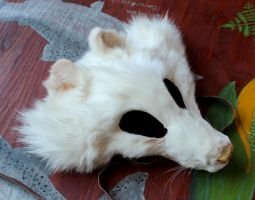 New shaped fox and coyote masks - 6-10-14 by lupagreenwolf