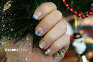 Snowflakes Nails by elegance2255