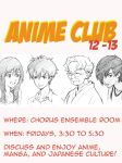 Anime Club Poster by mooyacow